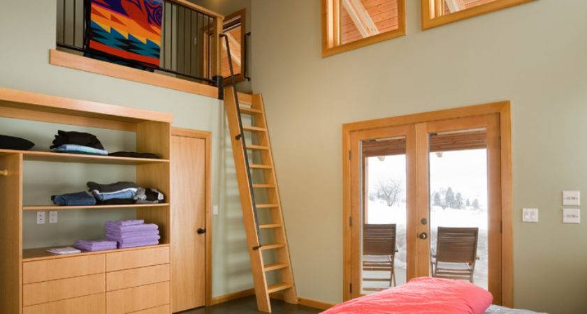 Magnificent Loft Ladder Decorating Ideas Bedroom