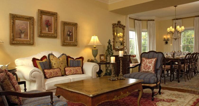 Mahoney French Country Living Dining Room