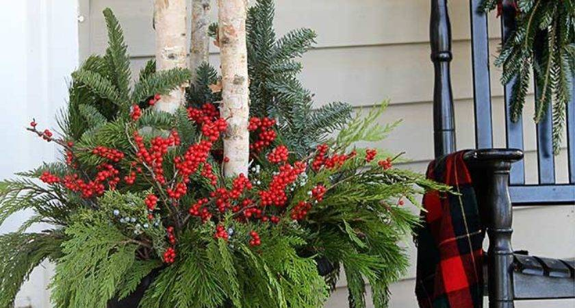 Make Outdoor Christmas Planters House Hawthornes