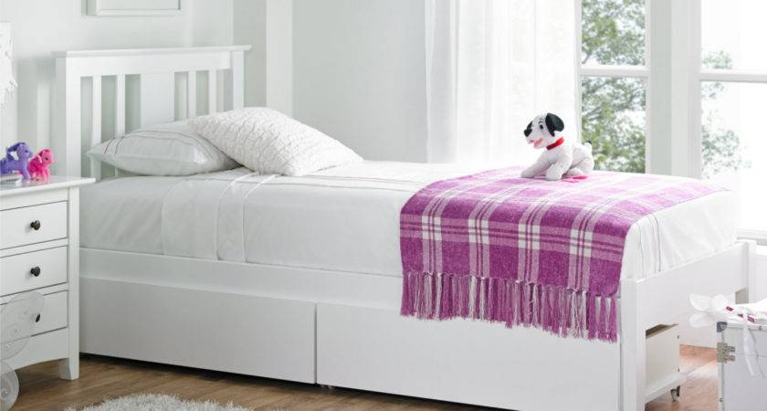 Malmo White Solo Wooden Bed Frame Painted Wood