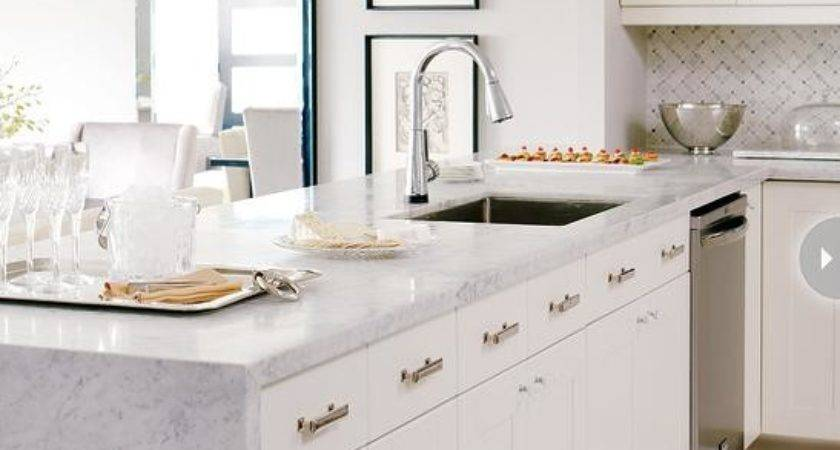 Marble Kitchen Peninsula Contemporary Style