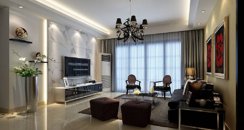 Marble Wall Living Room