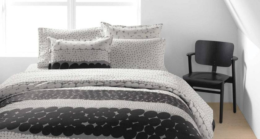 Marimekko White Grey Sheet Set