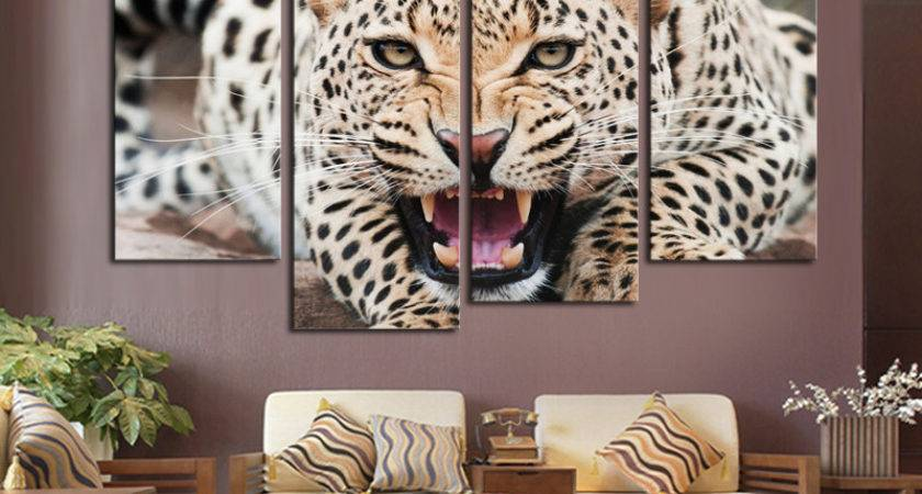 Marvelous Leopard Print Living Room Within Interior