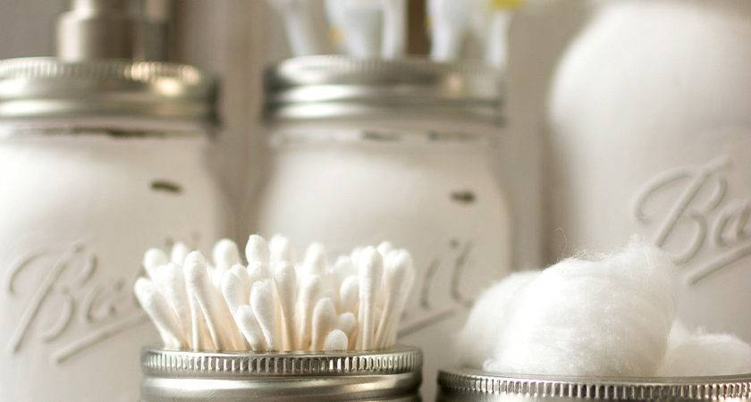 Mason Jar Bathroom Storage Accessories