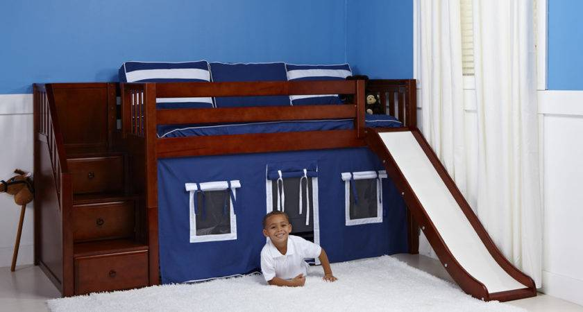 Maxtrix Delicious Playhouse Low Loft Chestnut Stairs