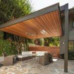 Metal Frame Pergolas Combination Wood Pelasgos