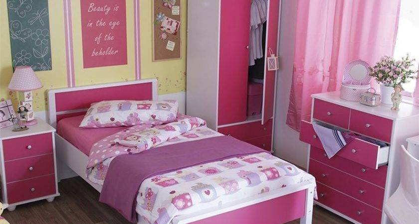 Miami Piece Girls Pink Bedroom Furniture Set