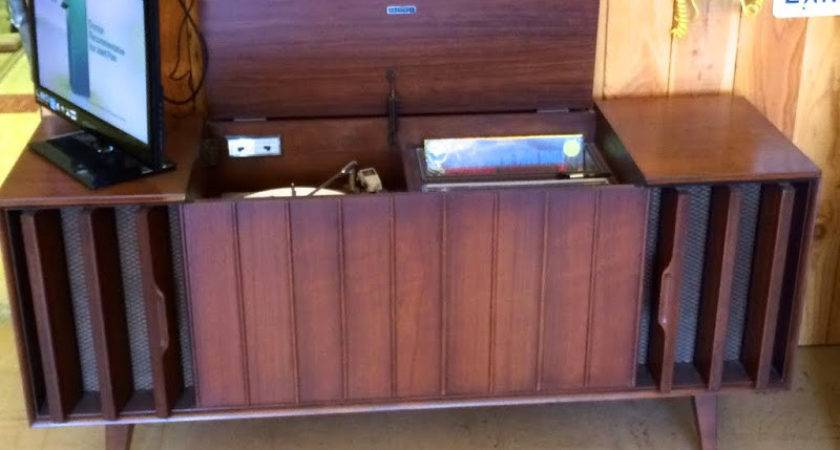 Mid Century Cabinet Console Stereos Record Player