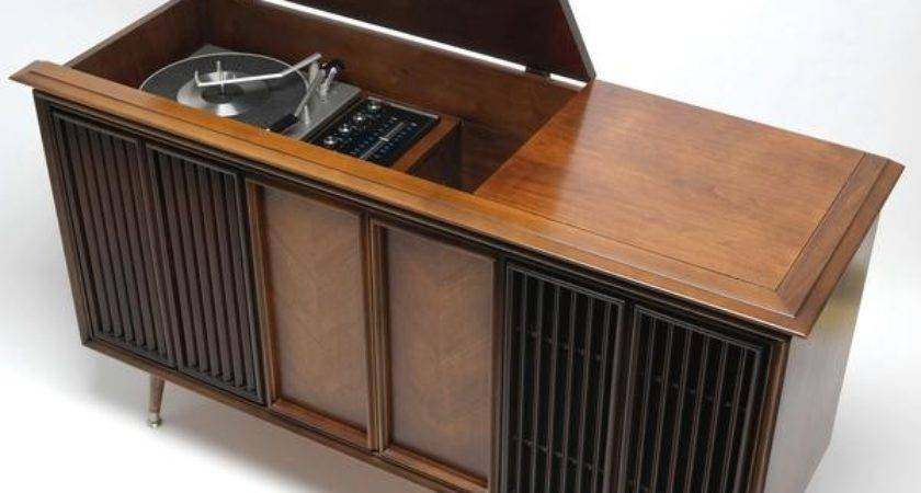 Mid Century Modern Stereo Console
