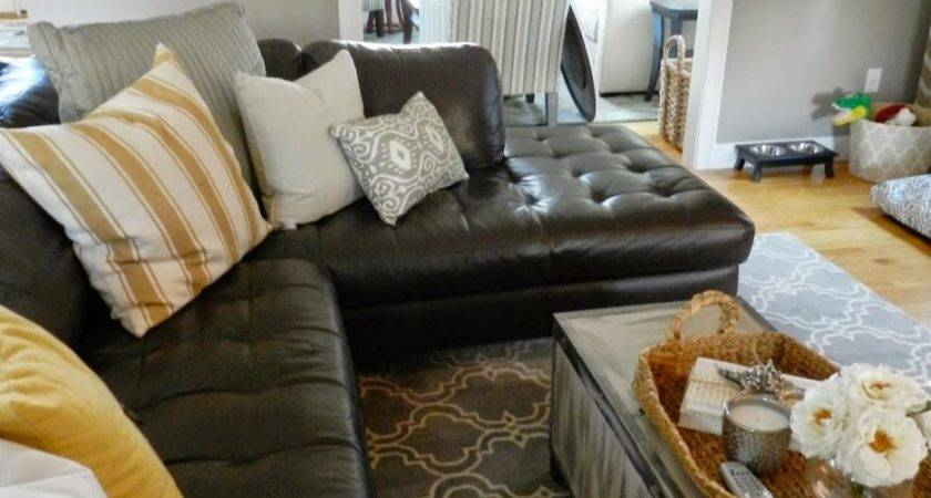 Mixing Leather Fabric Furniture Living Room