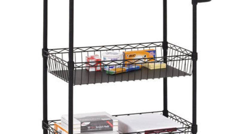Mobile Wire Kitchen Cart Brookstone Buy Now