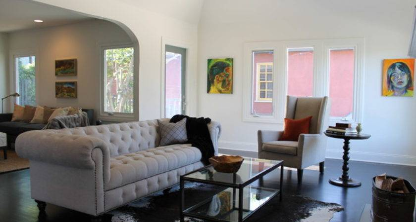 Modern Art Traditional Living Room Eclectic