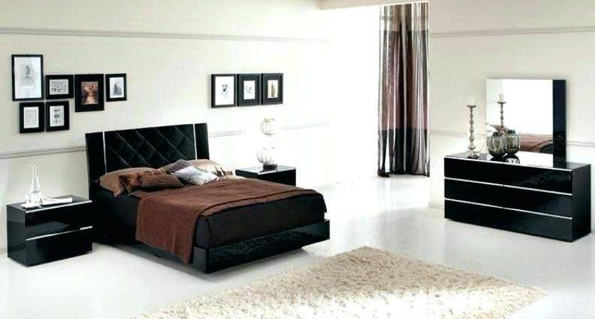 Modern Black Lacquer Bedroom Furniture Laquer