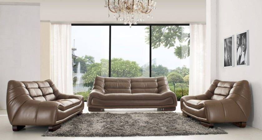 Modern Classic Italian Leather Living Room Sets