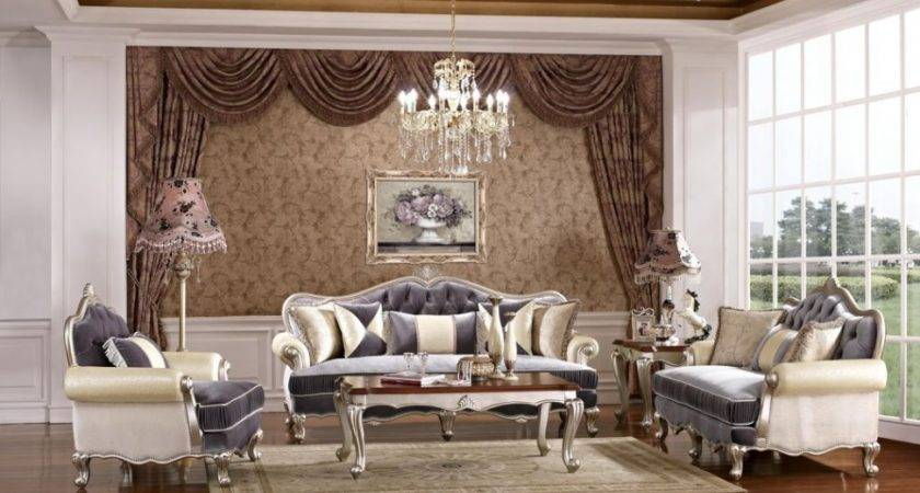 Modern Classic Living Room Design Brown Floral