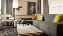 Modern Decor Gray Couch Walls Just Decorate