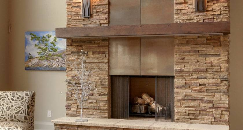 Modern Fireplace Mantels Living Room Exposed