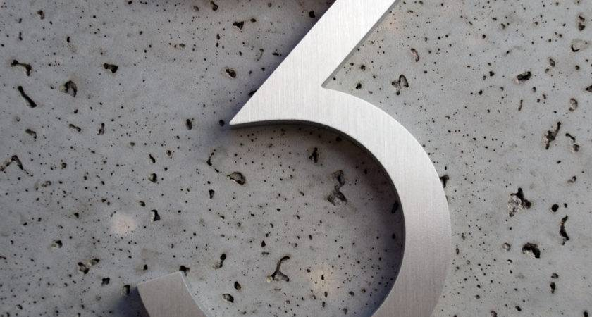 Modern House Numbers Aluminum Font Number Three