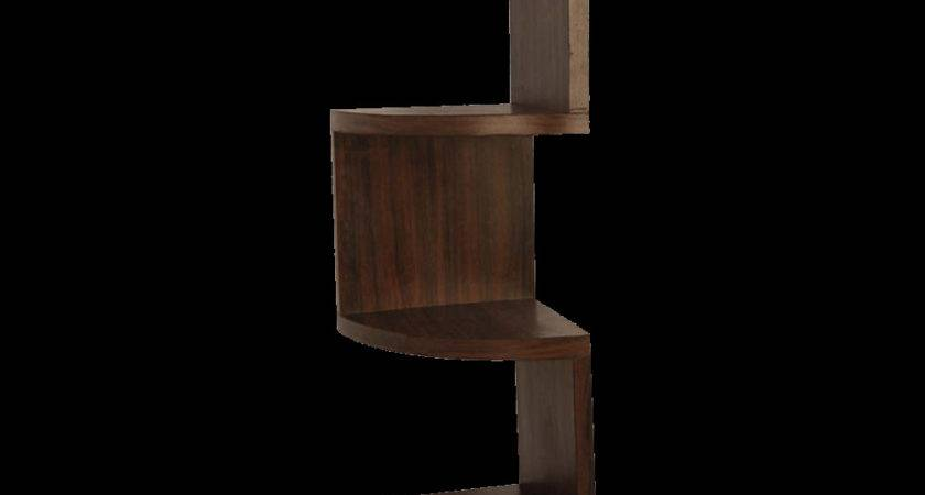 Modern Interspersed Corner Wall Shelf