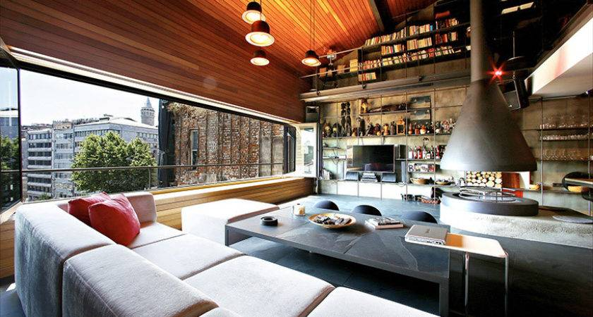 Modern Istanbul Bachelor Pad Open Interior Ofist