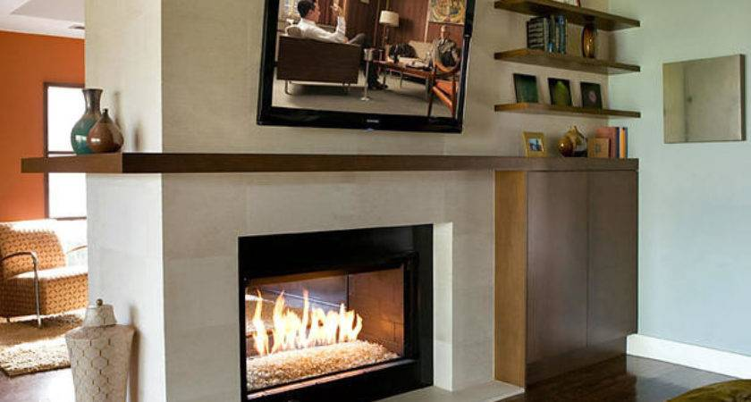 Modern Living Room Double Sided Fireplace Hgtv