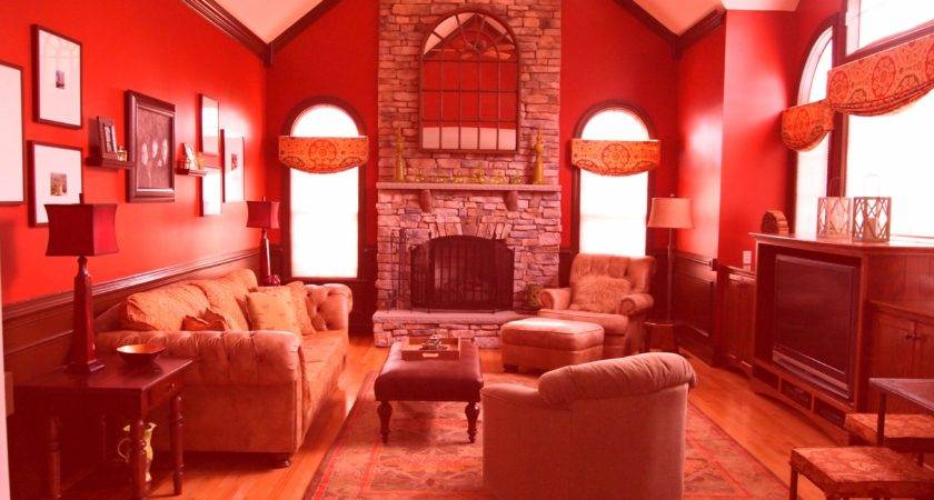Modern Living Room Paint Ideas Contemporary Red Wall