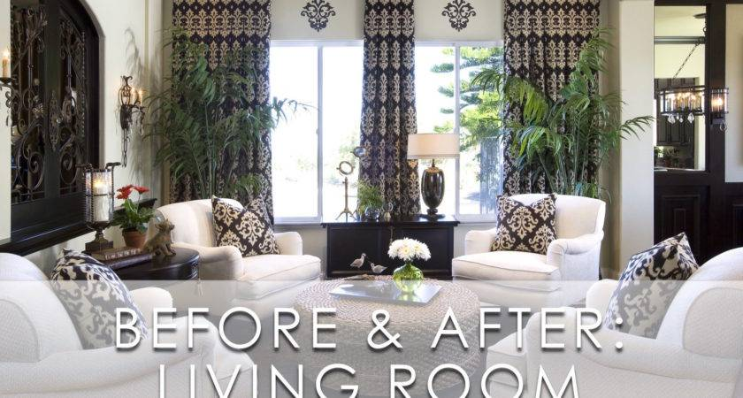 Modern Traditional Living Room Before After San