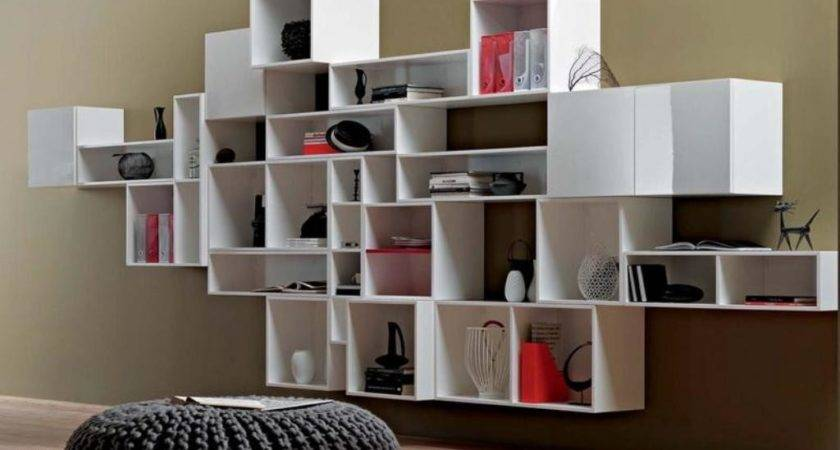 Modern Wall Shelves Decorating Ideas Apartment