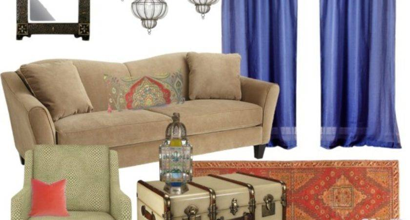 Moroccan Living Room Polyvore