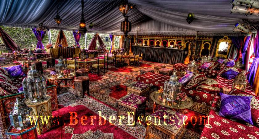 Moroccan Tent Lounge Themed Berber Events