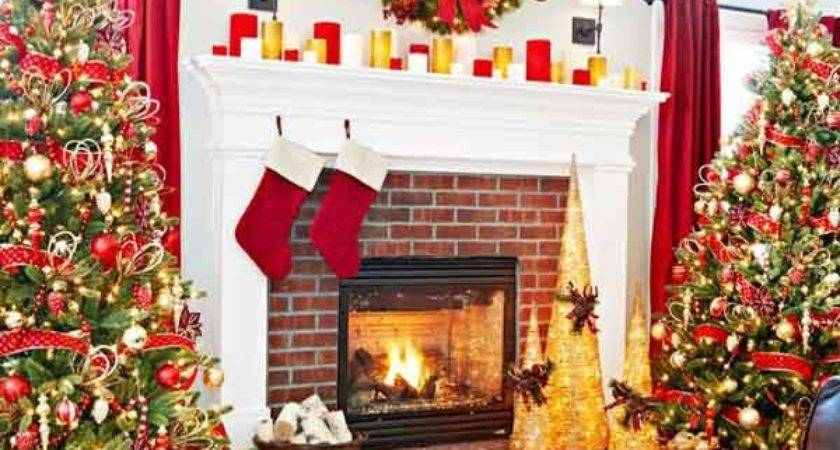 Most Beautiful Christmas Fireplace Decorating Ideas