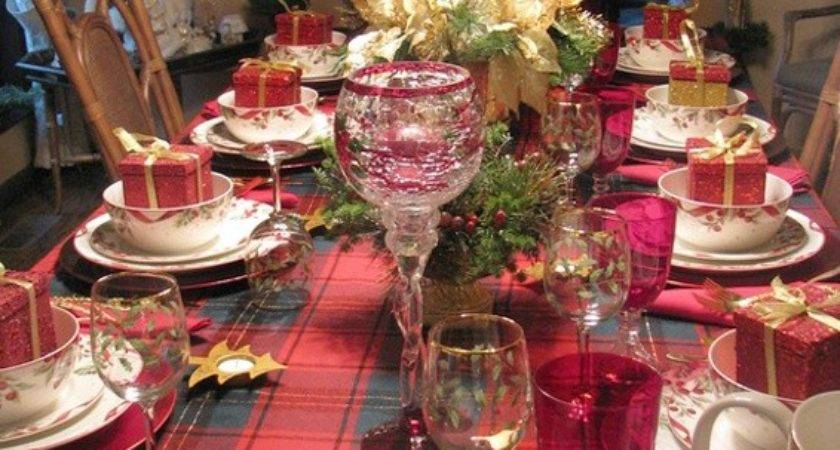 Most Beautiful Christmas Table Decorations Love Pink