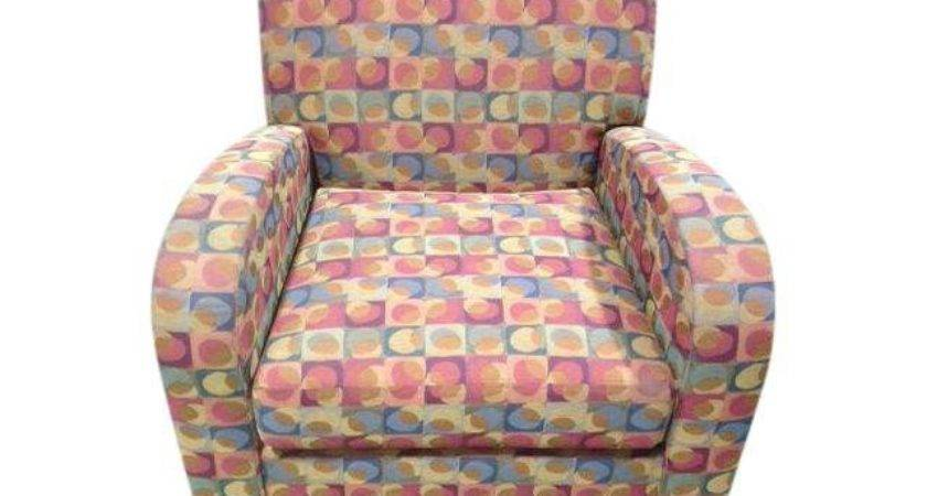 Multi Colored Hickory Lounge Chair Chairish