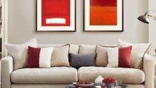 Mushroom Grey Red Living Room Decorating