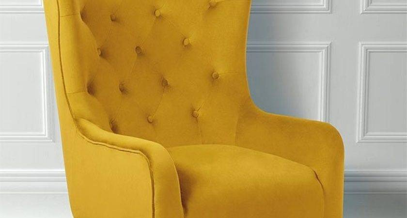 Mustard Colored Armchair Chairs Seating