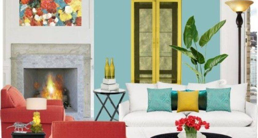 Mustard Teal Red Living Rooms Modern Home Design Ideas