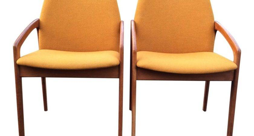 Mustard Yellow Arm Chairs Kai Kristiansen Korup
