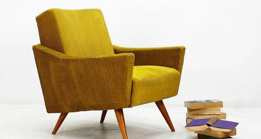 Mustard Yellow Club Chair Sale Pamono