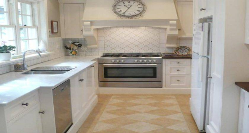 Narrow White Cabinet Small French Country Kitchen Ideas