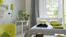Natural Green Color Schemes Modern Bedroom