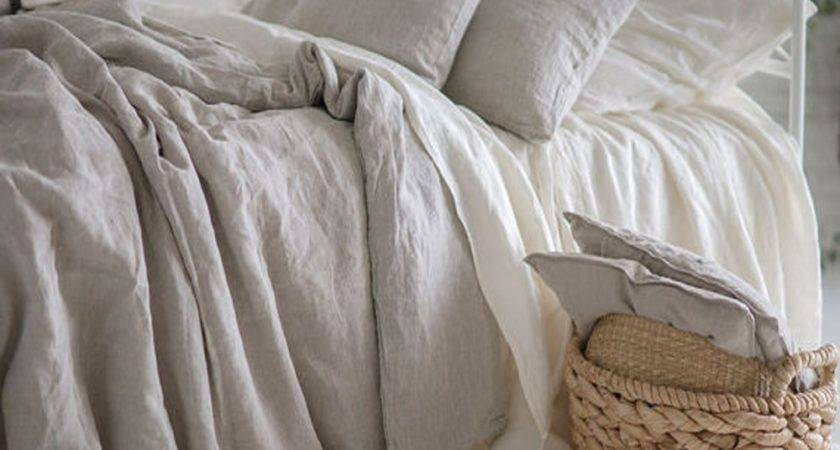 Natural Pure Washed Linen Duvet Cover French Bed
