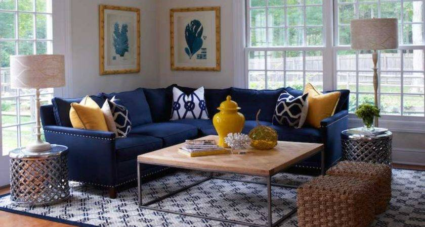 Navy Blue Sectional Sofa Decorating Ideas