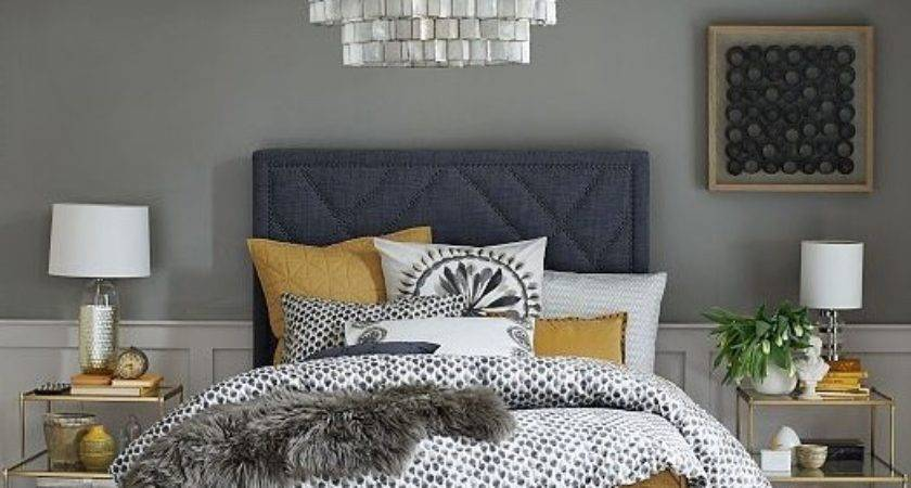 Navy Grey Bedroom Drum Shape Hanging Lamp Home