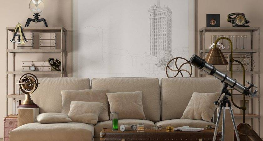 Neutral Beige Velvet Sofa Interior Design Ideas