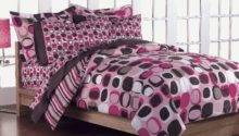 New Girls Teen Geometric Pink Brown Queen Bedding