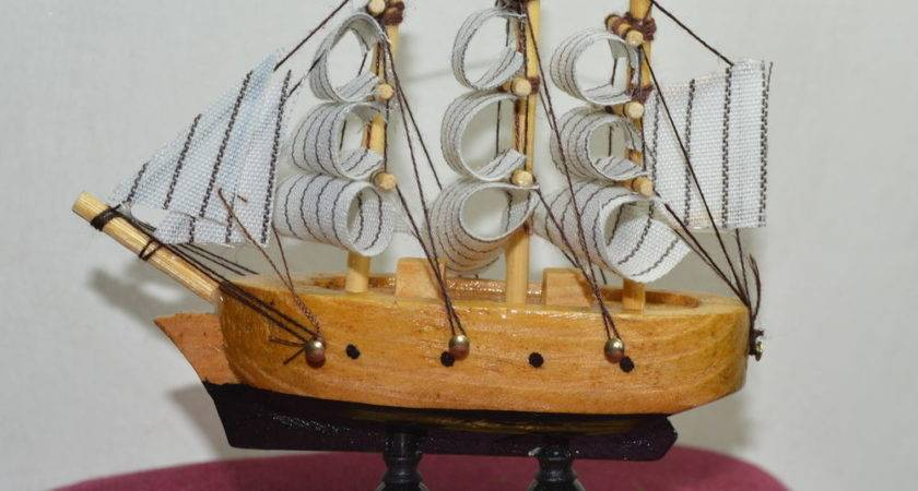 New Vintage Nautical Wooden Wood Ship Sailboat Boat