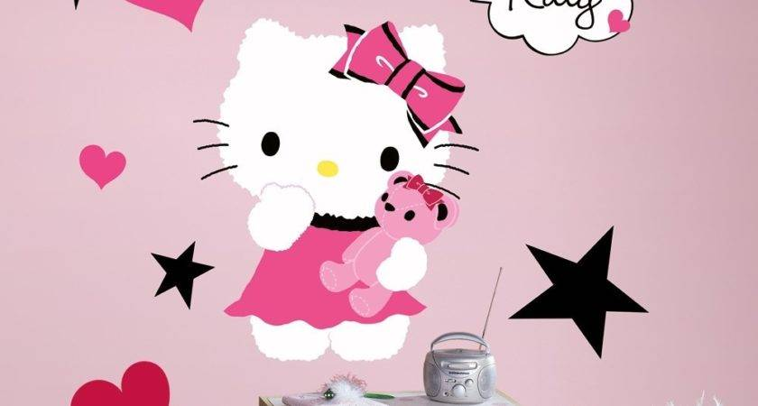 News Bedroom Wall Decal Hello Kitty Couture Decals
