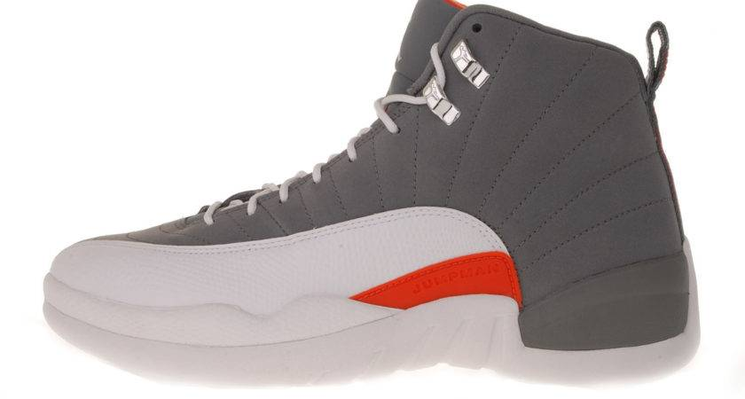 Nike Air Jordan Retro Xii Cool Grey White Team Orange