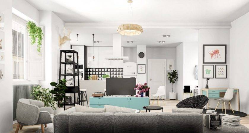 Nordic Living Room Interior Design Bring Out Cheerful